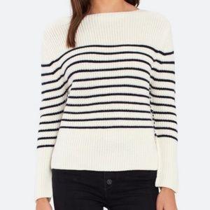 ATM striped wool-blend boatneck sweater size XS